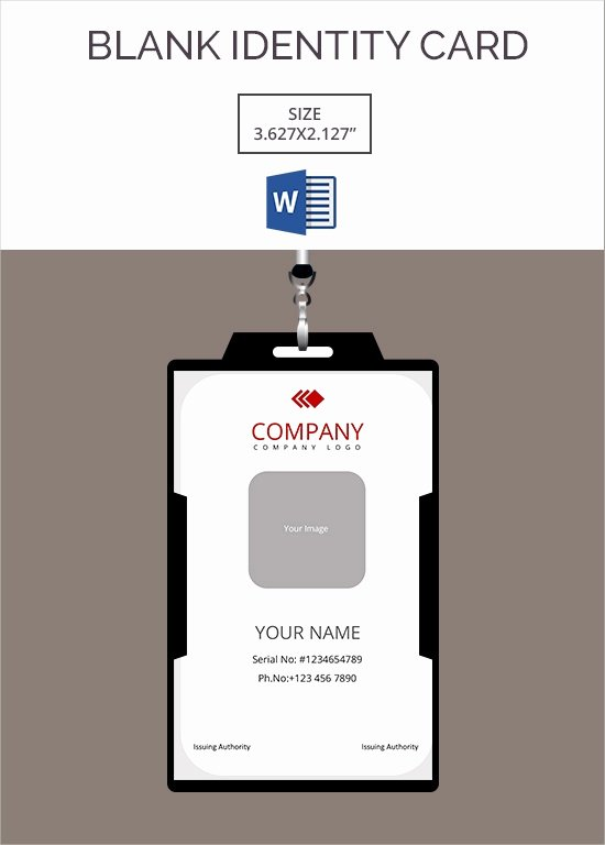 Blank Id Card Template Inspirational 30 Blank Id Card Templates Free Word Psd Eps formats