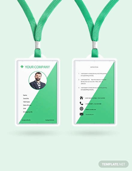 Blank Id Card Template Inspirational 38 Id Card Templates Psd Eps Png