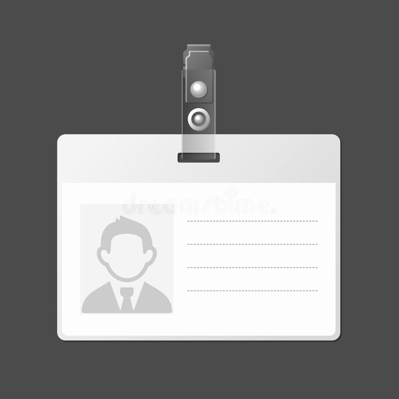 Blank Id Card Template Inspirational Blank Identification Card Badge Id Template Vector Stock