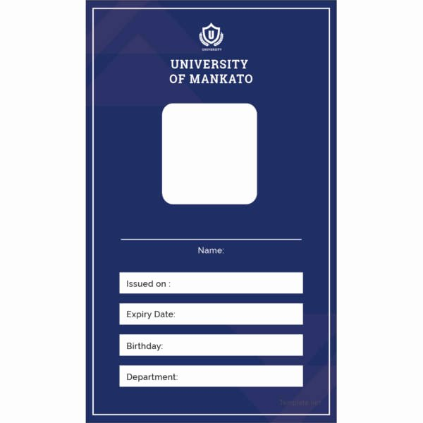 Blank Id Card Template Lovely 17 Id Card Templates Free Sample Example format