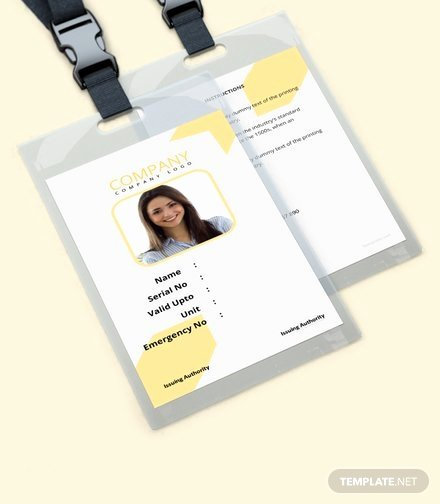 Blank Id Card Template Lovely Corporate Blank Id Card Template Download 128 Cards In