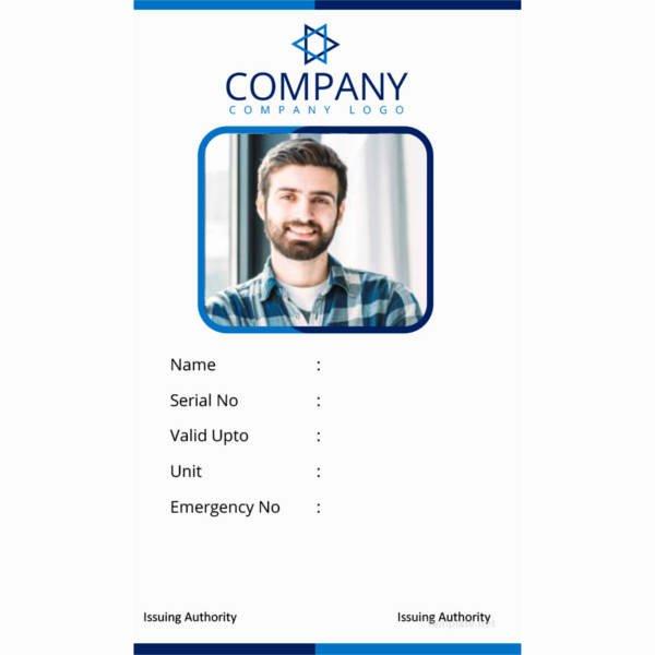 Blank Id Card Template New 40 Blank Id Card Templates Psd Ai Vector Eps Doc