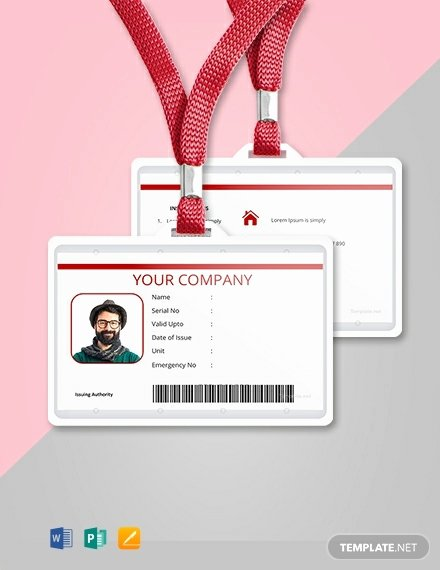 Blank Id Card Template Unique 32 Free Id Card Templates Word Psd Indesign