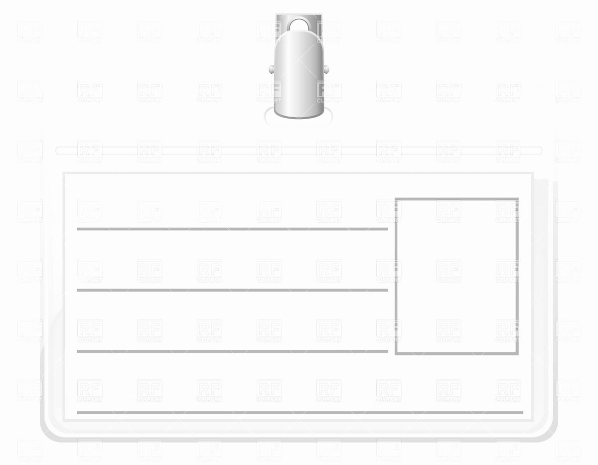 Blank Id Card Template Unique Identification Card Blank White Name Tag Badge