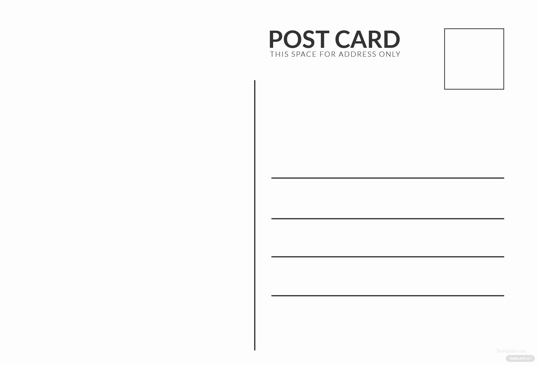 Blank Index Card Template Awesome Blank White Index Postcard Template In Adobe Shop