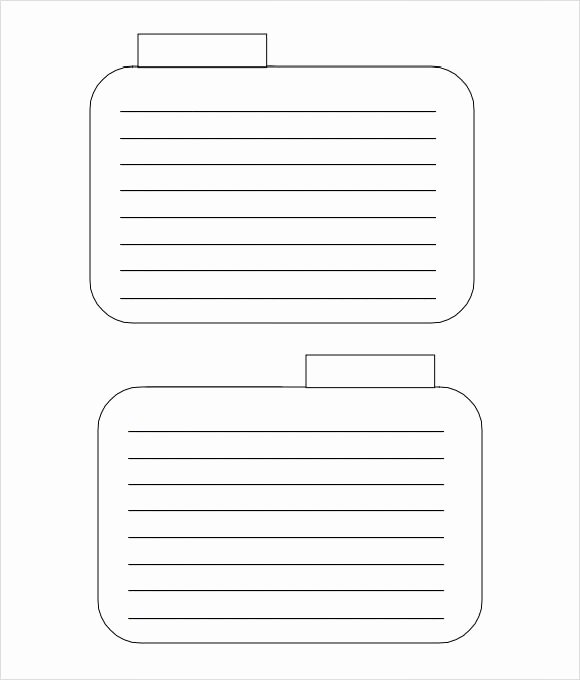 Blank Index Card Template Awesome Index Card Template 8 Download Free Documents In Pdf