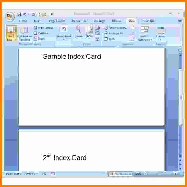 Blank Index Card Template Fresh 6 Index Card Template Word