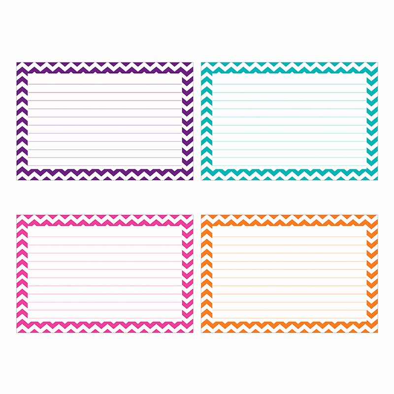 Blank Index Card Template New Border Index Cards 3 X 5 Lined Chevron by top Notch