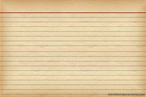 Blank Index Card Template Unique Vintage Recipe Card Template Cookbook Ideas