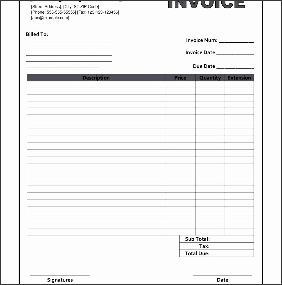 Blank Invoice Template Pdf Awesome 10 Blank Invoice Templates Sampletemplatess