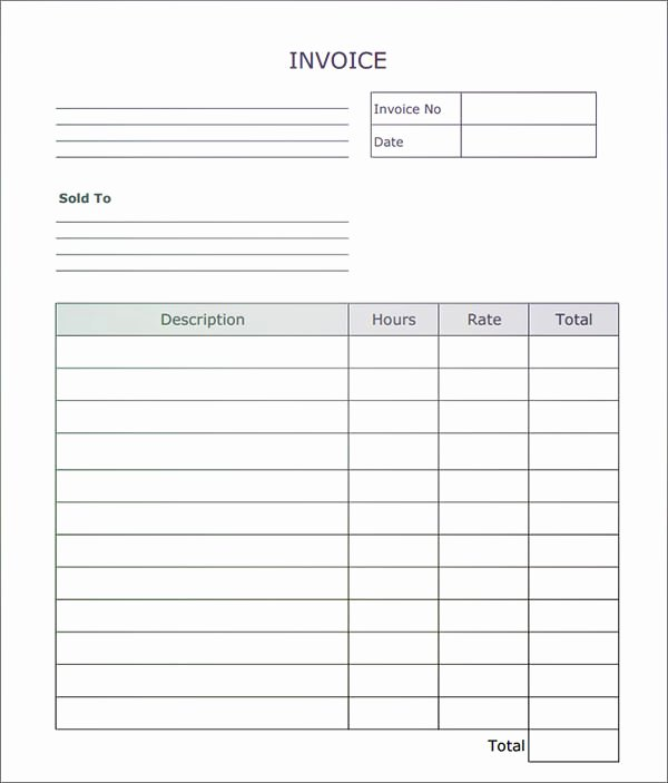 Blank Invoice Template Pdf Awesome Fillable Invoice Blank In Pdf