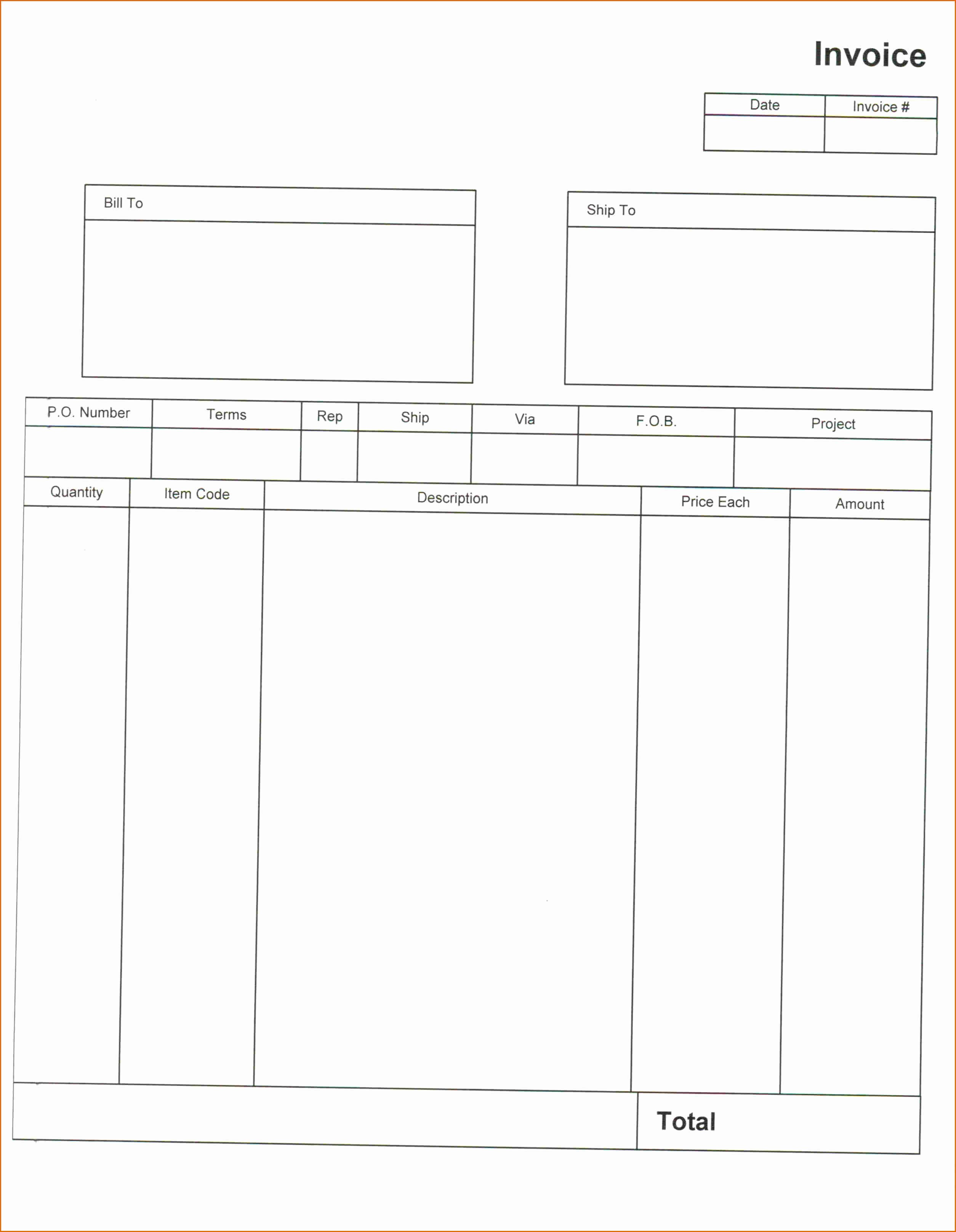 Blank Invoice Template Pdf Beautiful 8 Blank Invoice Template Pdf
