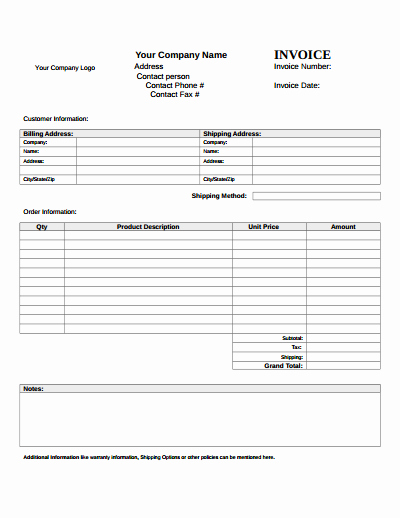 Blank Invoice Template Pdf Beautiful Blank Invoice Template Download Create Edit Fill and
