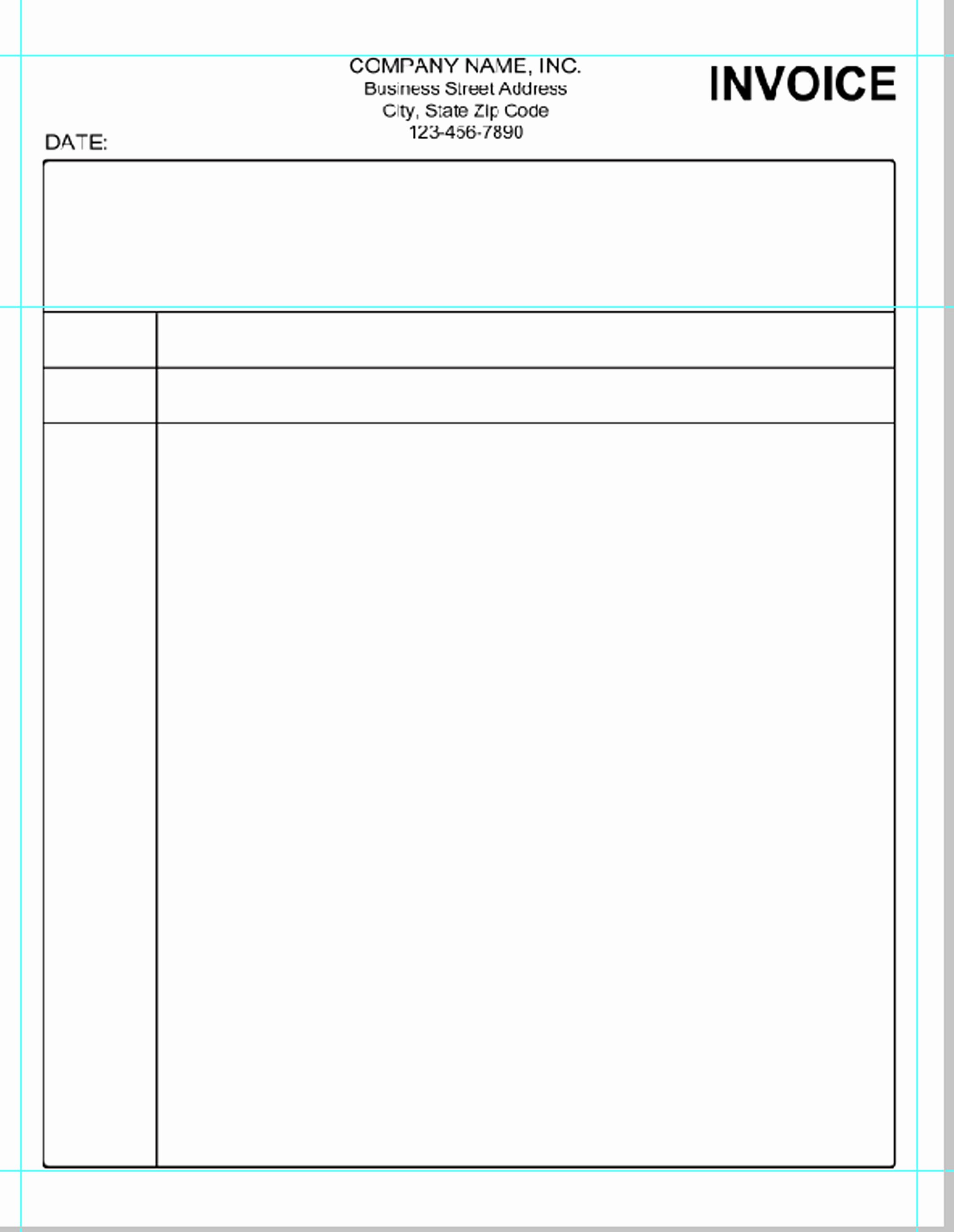 Blank Invoice Template Pdf Best Of Simple Invoice Template Pdf