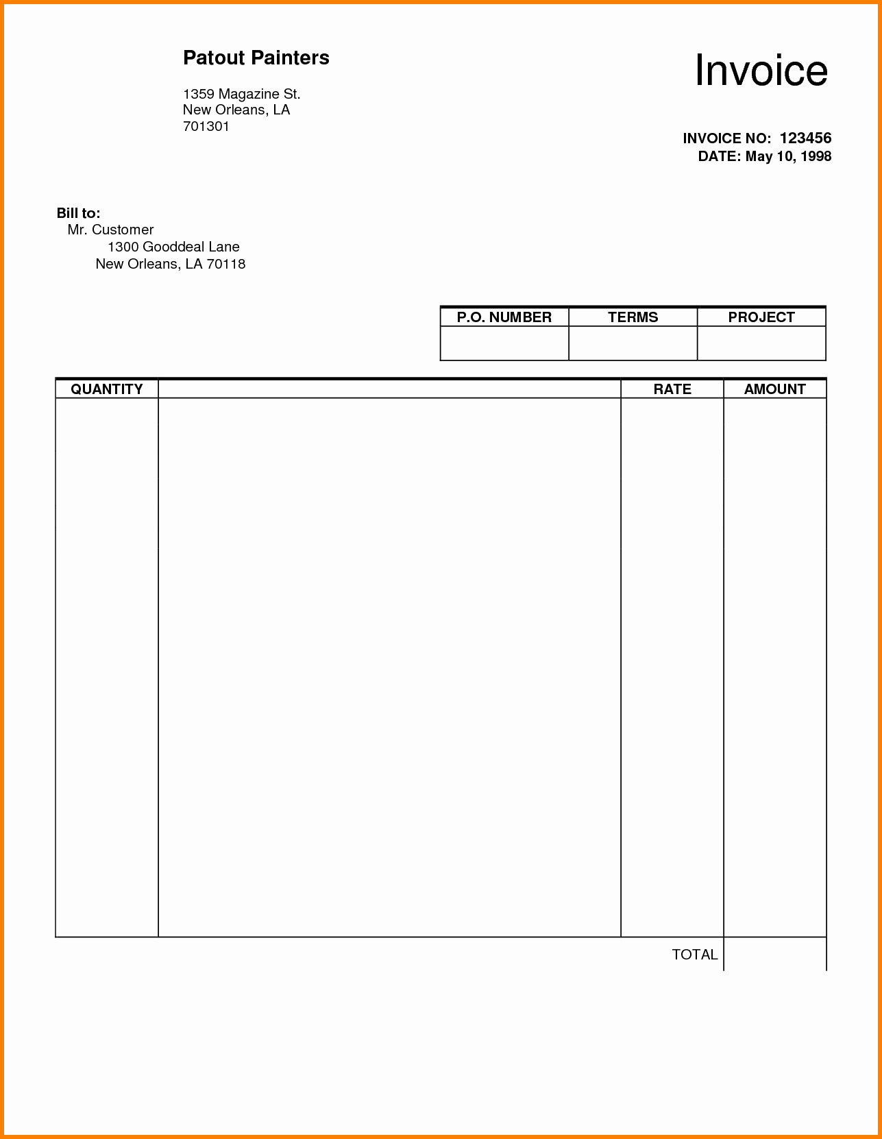 Blank Invoice Template Pdf Elegant Blank Invoice Pdf
