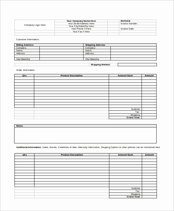 Blank Invoice Template Word Beautiful Sample Invoice Word 9 Examples In Word