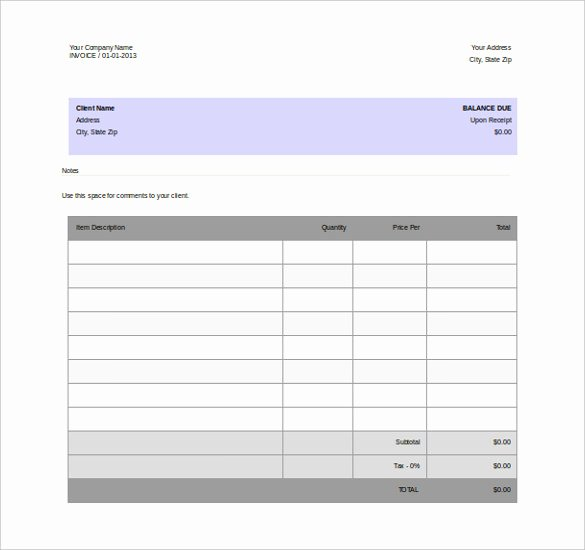 Blank Invoice Template Word Best Of 11 Word Invoice Templates Free Download
