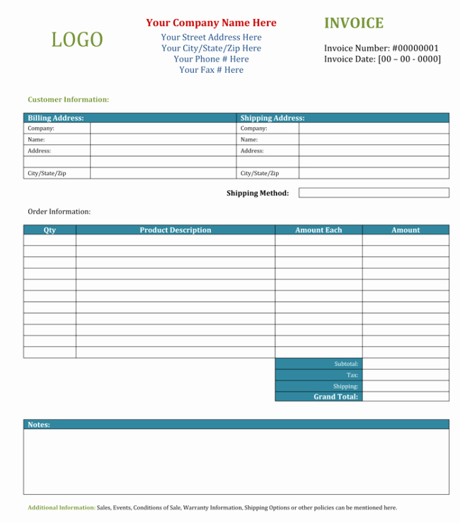 Blank Invoice Template Word New 3 Blank Invoice Template and Maker to Make Quick Invoices