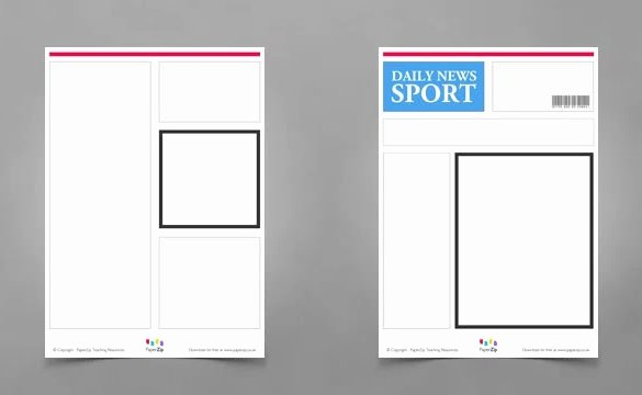 Blank Newspaper Template Microsoft Word Awesome Blank Newspaper Template – 20 Free Word Pdf Indesign