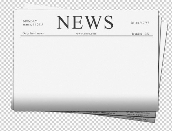 Blank Newspaper Template Microsoft Word Beautiful Blank Newspaper Product Mockups On Creative Market