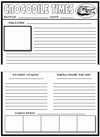 Blank Newspaper Template Microsoft Word Best Of Blank Newspaper Template for Word
