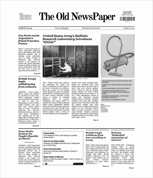 Blank Newspaper Template Microsoft Word Elegant Free Newspaper Template 10 Blank Google Docs Word