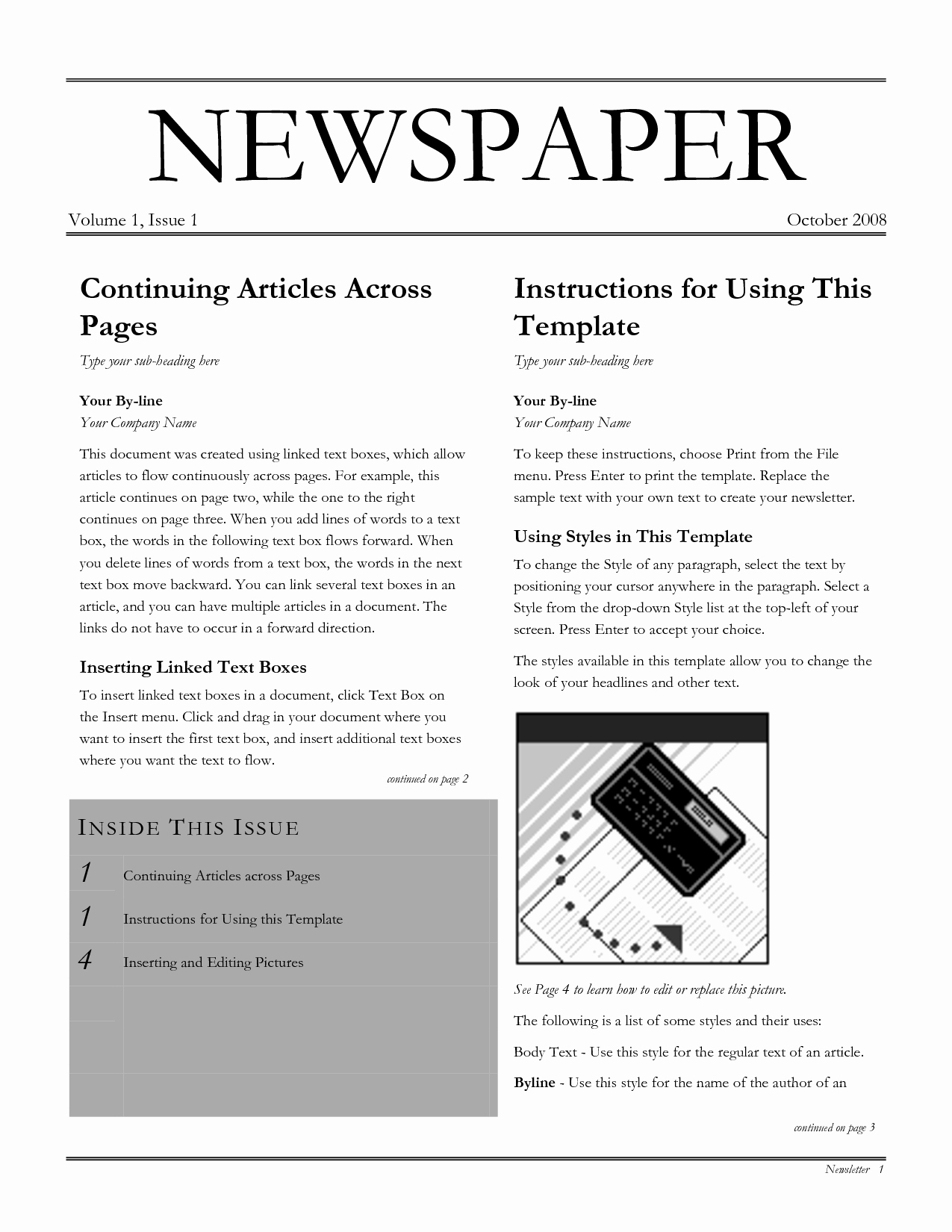 Blank Newspaper Template Microsoft Word Fresh Best S Of Blank Newspaper Template for Word Blank