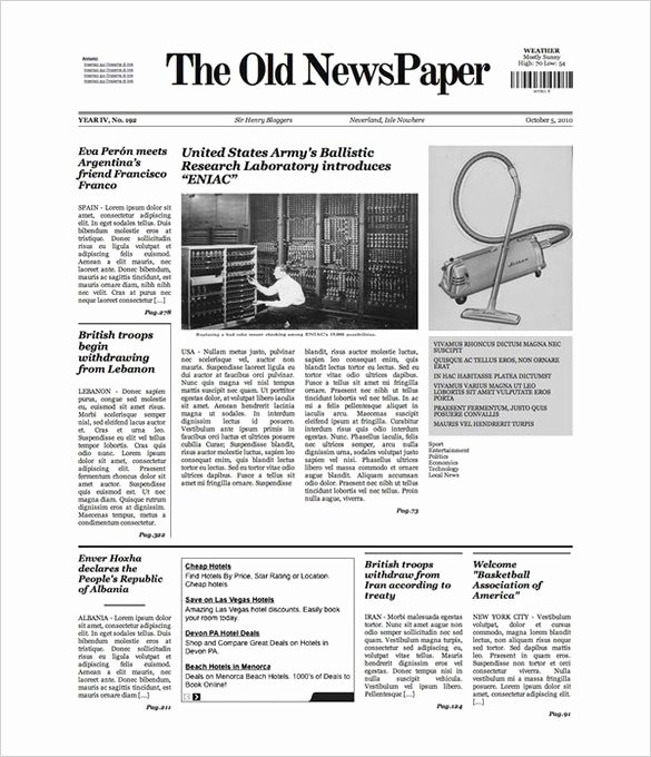 Blank Newspaper Template Microsoft Word Fresh Free Newspaper Template 10 Blank Google Docs Word