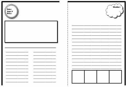 Blank Newspaper Template Microsoft Word Lovely Blank Newspaper Template for Word
