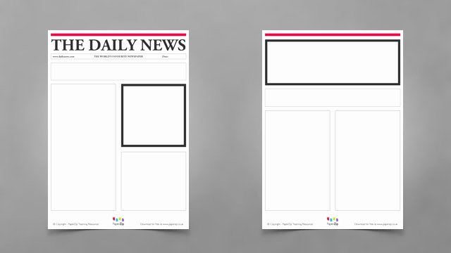 Blank Newspaper Template Microsoft Word Lovely Newspaper Template for Kids
