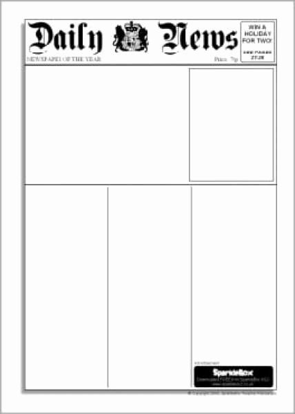 Blank Newspaper Template Microsoft Word Unique 9 Newspaper Templates Word Excel Pdf formats