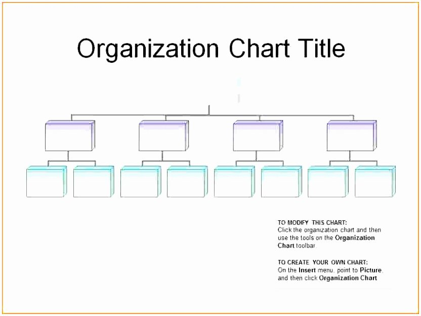 Blank organizational Chart Template Unique 6 Editable organizational Chart Template Ppfop