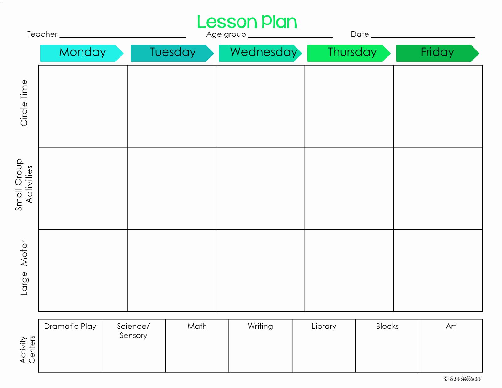 Blank Preschool Lesson Plan Template Elegant Preschool Ponderings Make Your Lesson Plans Work for You