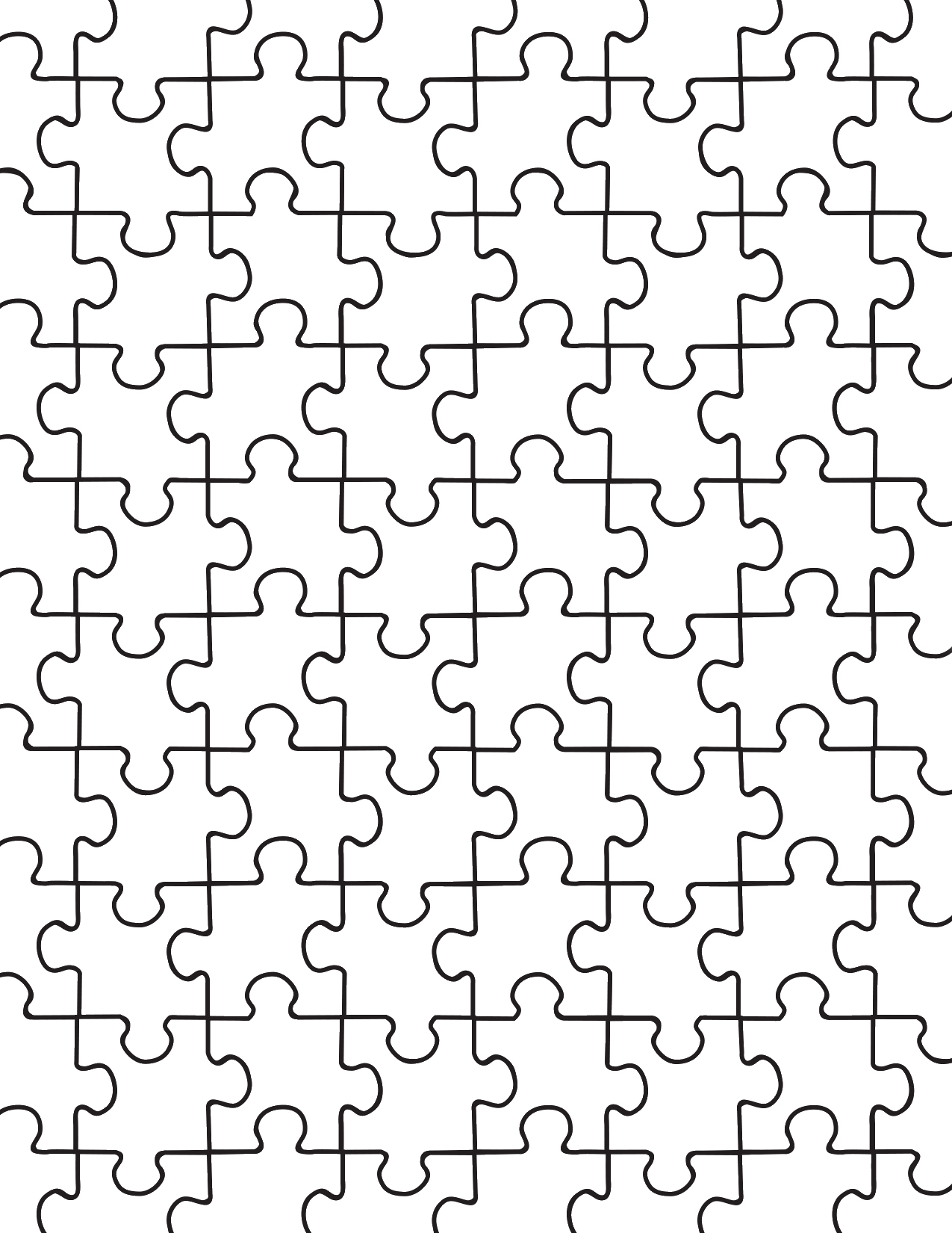 Blank Puzzle Pieces Template Awesome Printable Puzzle Pieces Template Decor