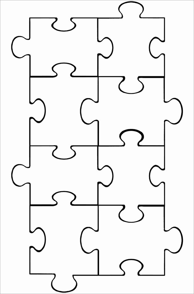 Blank Puzzle Pieces Template Awesome Puzzle Piece Template Puzzle Pieces Pinterest
