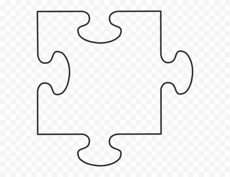 Blank Puzzle Pieces Template Beautiful Blank Puzzle Piece Template Clipart Pinclipart