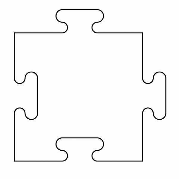 Blank Puzzle Pieces Template Beautiful Printable Puzzle Piece Template
