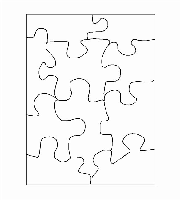 Blank Puzzle Pieces Template Beautiful Puzzle Template Blank Puzzle Template