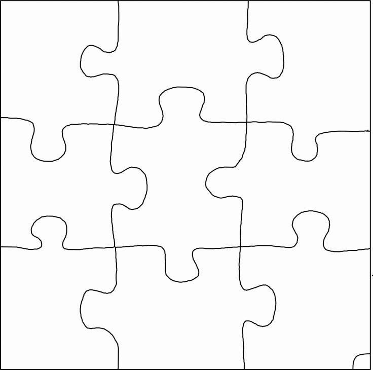 Blank Puzzle Pieces Template Best Of Best S Of 9 Piece Jigsaw Puzzle Blank Blank Puzzle