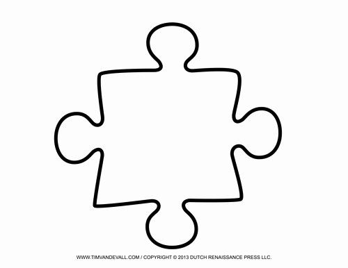 Blank Puzzle Pieces Template Best Of Single Puzzle Piece Template