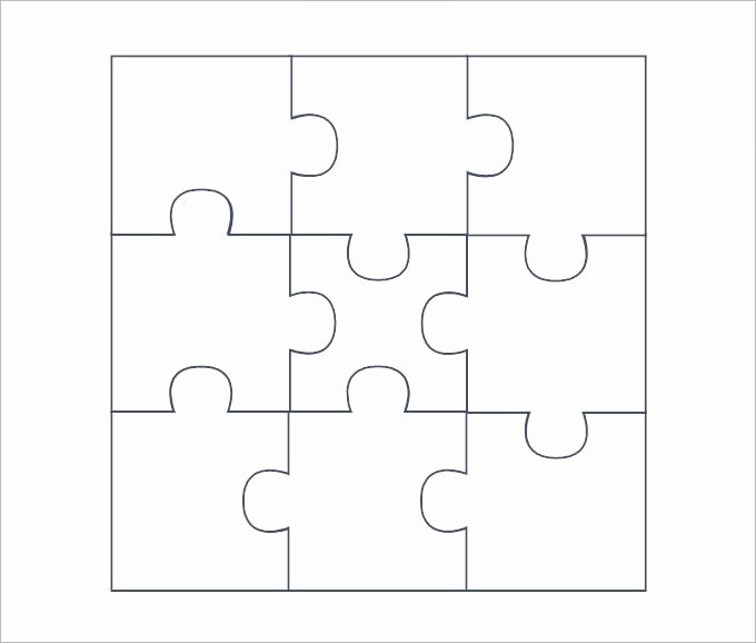 Blank Puzzle Pieces Template Lovely Puzzle Pieces Template