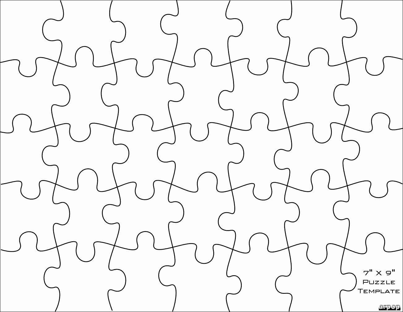 Blank Puzzle Pieces Template Luxury Free Puzzle Pieces Template Download Free Clip Art Free
