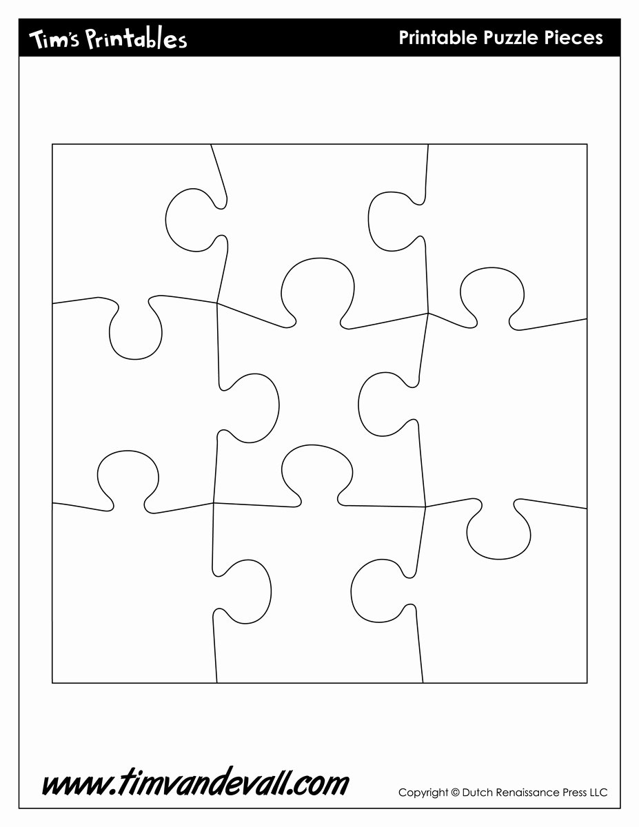 Blank Puzzle Pieces Template Luxury Puzzle Piece Shapes Template Tim S Printables