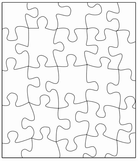 Blank Puzzle Pieces Template Luxury Puzzle Template Transfer This Puzzle to A Large Poster