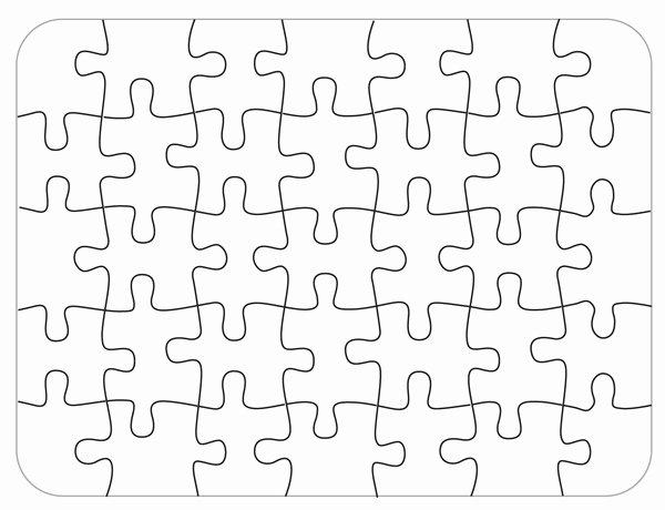 Blank Puzzle Pieces Template Unique Bare Blank Puzzle 35 Piece Details Rainbow