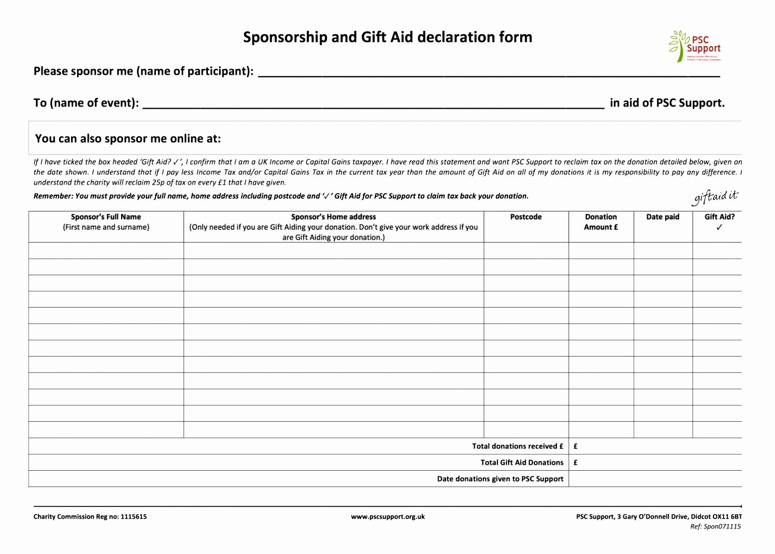 Blank Scholarship Application Template Awesome 9 Blank Sponsor form Template Uitet