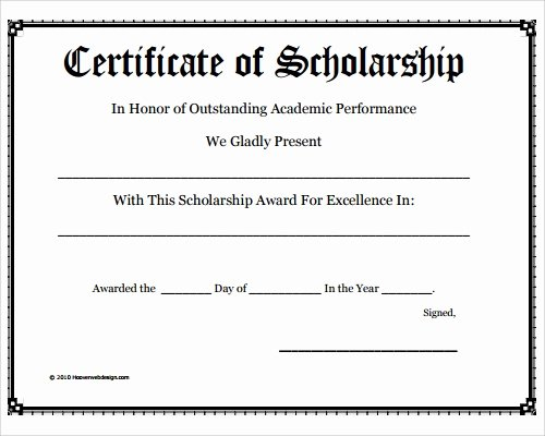 Blank Scholarship Application Template Best Of Free 35 Best Award Certificate Templates In Illustrator