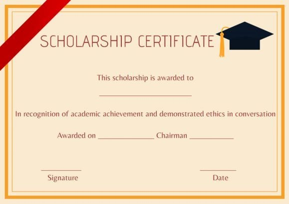 Blank Scholarship Application Template Lovely High School Scholarship Certificate Template