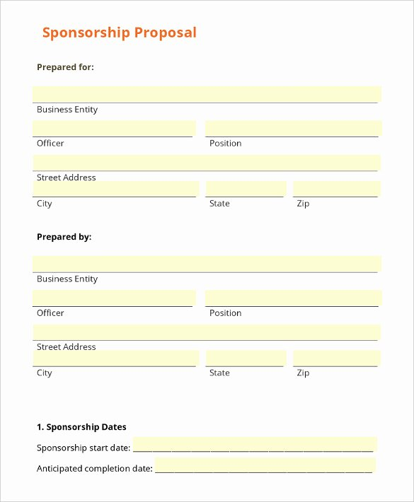 Blank Scholarship Application Template New Sponsorship Letter Template – 8 Free Word Pdf Documents