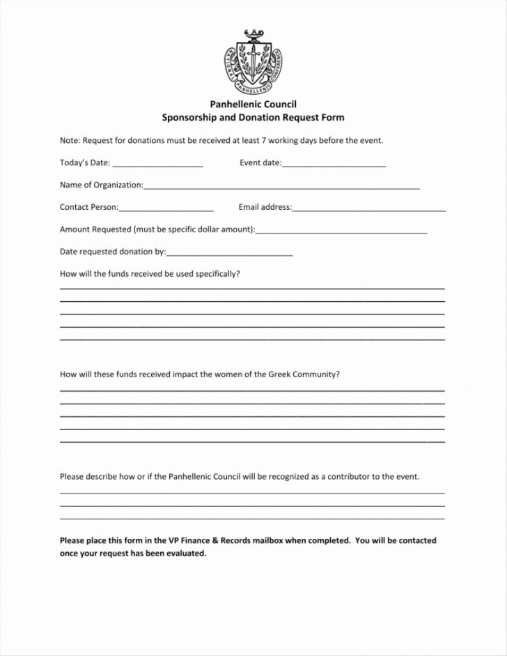 Blank Scholarship Application Template Unique 6 7 Sponsorship Request Letter